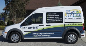 New Again Carpet Cleaning van
